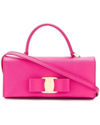 ba0bec8557 Lyst - Ferragamo Vara Nylon Makeup Bag in Red