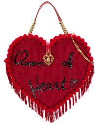 Dolce & Gabbana - My Heart Crochet Bag - Lyst