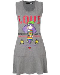 Love Moschino - Printed Dress - Lyst