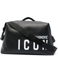 DSquared² X Ibrahimović Icon Duffle Bag - Black