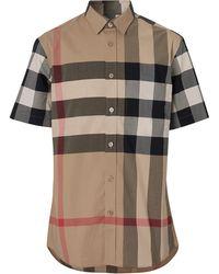 Burberry Camisa de manga corta con motivo de cuadros - Multicolor