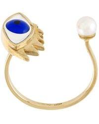 Delfina Delettrez Bague Eye en or, perle et émail