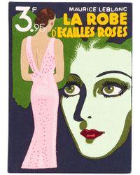 Olympia Le-Tan - La Robe D'ecailles Roses Book Clutch - Lyst