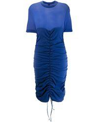 Unravel Project シャーリング ドレス - ブルー