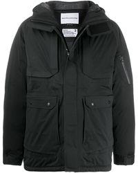 White Mountaineering フーデッド パデッドジャケット - ブラック