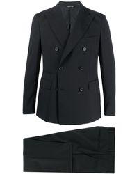 Tonello ツーピース ダブルスーツ - ブラック