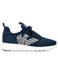 EA7 - Logo Lace-up Sneakers - Lyst