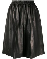 Tom Ford Leren Shorts - Zwart