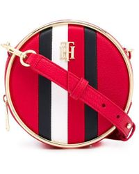 Tommy Hilfiger Circle ロゴ ショルダーバッグ - レッド
