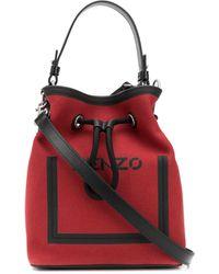 KENZO Kanvas Bucket Bag - Red