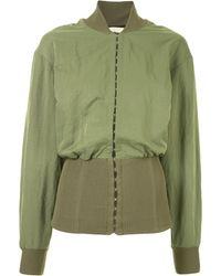 Dion Lee Hook-and-eye Bomber Jacket - Green