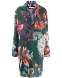 Tory Burch Пальто Миди С Цветочным Узором - Многоцветный