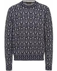 Prada ジャカード セーター - ブルー