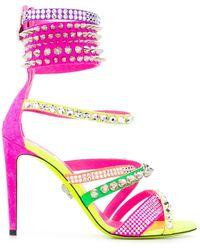 Philipp Plein Studded Gladiator Sandals - Pink