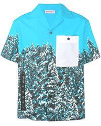 Palm Angels - T-Shirt mit Baum-Print - Lyst
