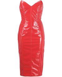 Elisabetta Franchi Облегающее Платье Миди - Красный