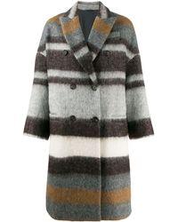 Brunello Cucinelli Двубортное Пальто - Серый