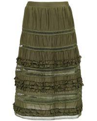 Olympiah Belvedere Silk Skirt - Green