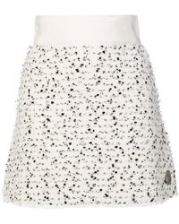 Moncler Gamme Rouge - Speckled Mini Skirt - Lyst