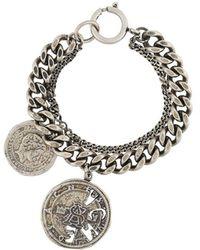 Acne Studios Coin Charm Bracelet - Metallic