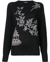 Ms Min - Floral Pattern Jumper - Lyst