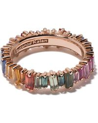 Suzanne Kalan 18kt Rose Gold And Sapphire Rainbow Eternity Ring - Metallic