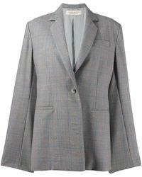 Nina Ricci Checked Single-breasted Blazer - Gray