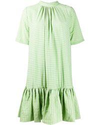 Stine Goya フレア シフトドレス - グリーン