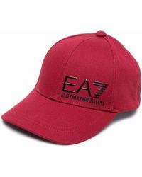 EA7 ロゴ キャップ - レッド