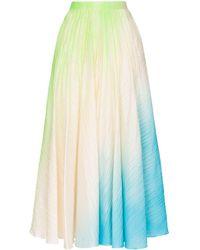 ROKSANDA Ambra Ombré Pleated Maxi-skirt - Multicolour