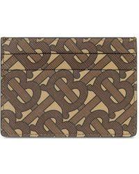 Burberry Porte-cartes brun Monogram E-Canvas Sandon - Marron