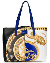 Versace - Baroque Print Tote - Lyst