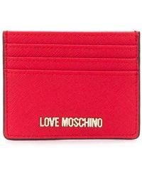 Love Moschino Картхолдер С Логотипом - Красный