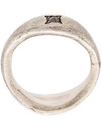Henson - Diamond Signet Ring - Lyst