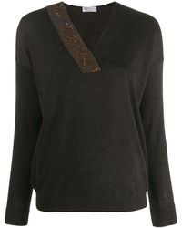 Brunello Cucinelli Sequinned Detail Knitted Jumper