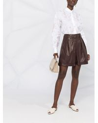 Brunello Cucinelli Рубашка С Абстрактным Цветочным Принтом - Белый