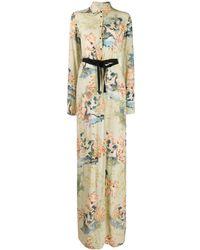 A.F.Vandevorst Vestido camisero con motivo floral - Verde