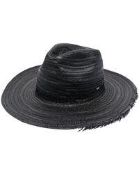 Saint Laurent Соломенная Шляпа С Бахромой - Черный