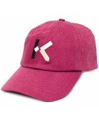 KENZO Кепка С Вышитым Логотипом - Розовый