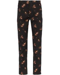 Ann Demeulemeester - Pantalones de terciopelo con bordado floral - Lyst