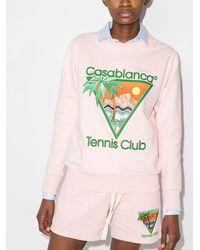 CASABLANCA Tennis Club スウェットシャツ - グリーン