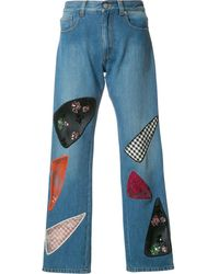 Christopher Kane Patchwork Jeans - Blue