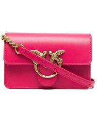 Pinko ロゴプレート ショルダーバッグ - ピンク