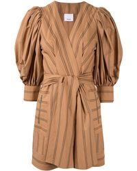 Acler Wyatt Wrap Dress - Brown