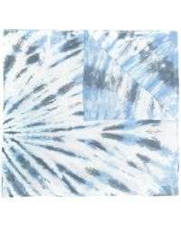 Isabel Marant Logo-embroidered Tie-dye Scarf - Blue