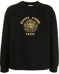 Maison Kitsuné グラフィック スウェットシャツ - ブラック