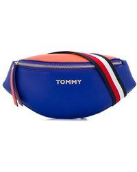 Tommy Hilfiger Gürteltasche mit Logo-Schild - Blau