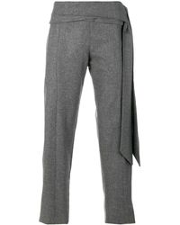 Chalayan Pantaloni 'Greek' con cintura - Grigio
