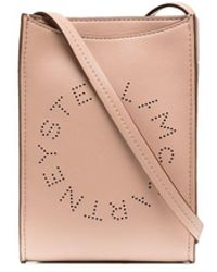 Stella McCartney Perforated Logo Satchel Bag - Pink