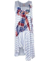 Antonio Marras - Striped Patchwork Dress - Lyst